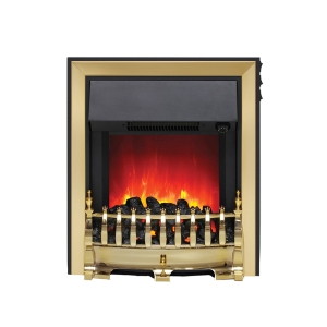 Be Modern Camberley Fazer Electric Fire C/W Spacer Frame 32840 Brass
