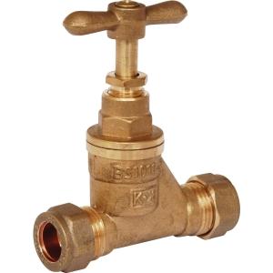 Stopcock Brass 15mm