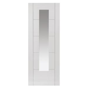 White Tigris Prefinished Glazed Internal Door