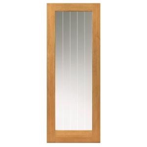 Oak Internal Prefinished Suffolk 1 Light Glazed Door
