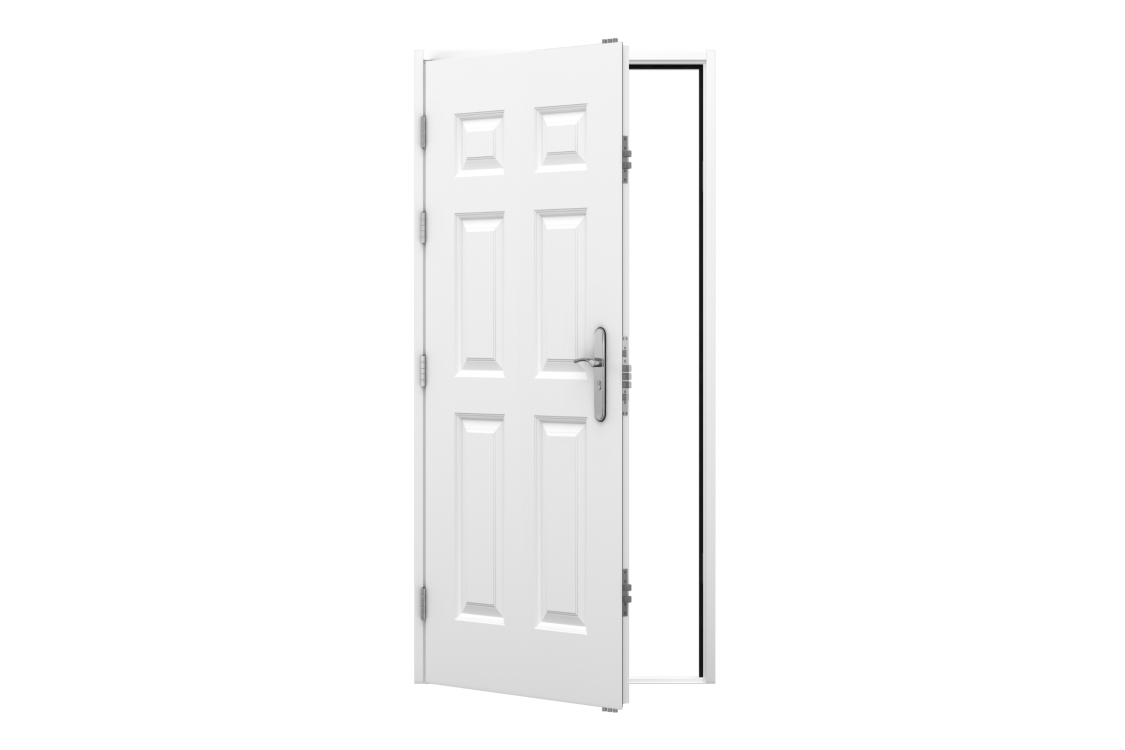 Lathams 6 Panel Steel Door 995 x 2020mm Lh Outward