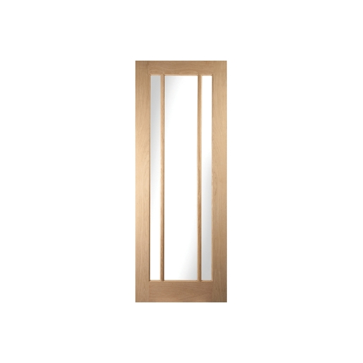 Jeld-wen Oregon Worcester 3 Light Clear Glazed White Oak Door 1981x610mm