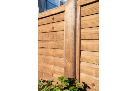 Incised Pressure Treated Fence Post UC4 Brown 100mm x 100mm x 2400mm