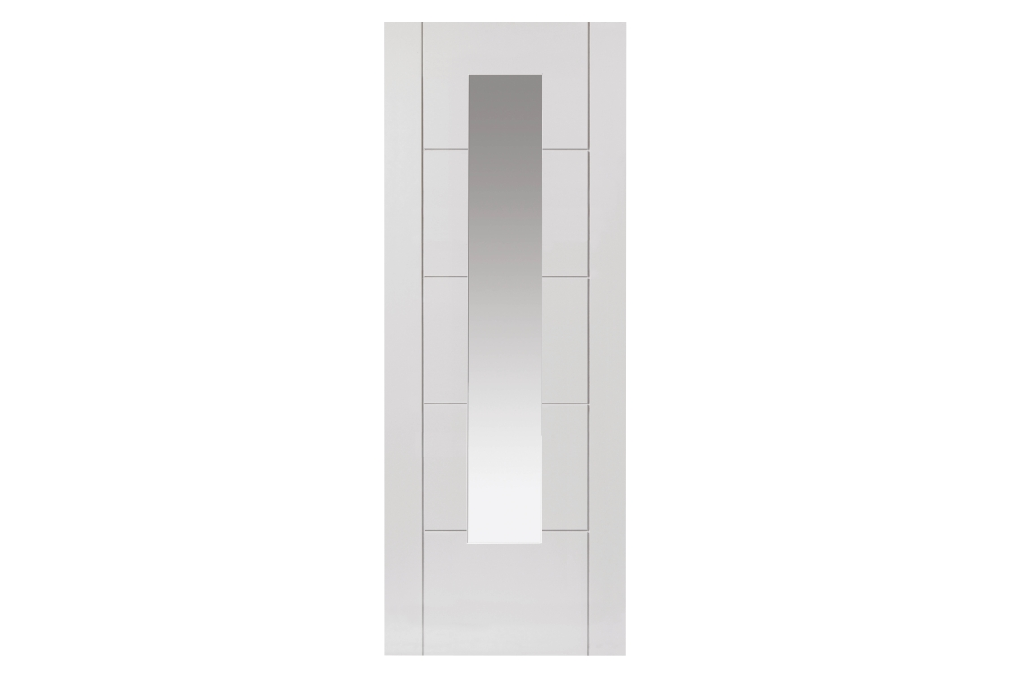 Jb Kind White Tigris Prefinished Glazed Internal Door 35 x 1981 x 838mm