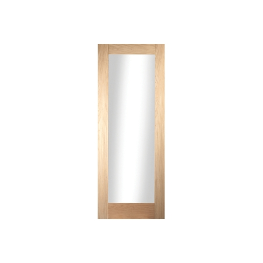 Jeld-wen Oregon Shaker 1 Light Clear Glazed White Oak Door 1981x838mm