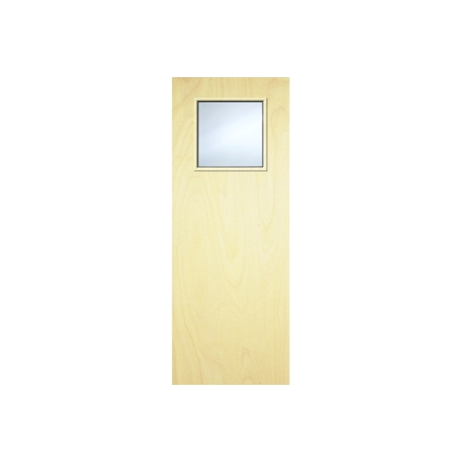 Internal Flush Pwd Paint Grade FD30 Fire Door 1 g Glazed Georgian 1981 x 762 x 44mm