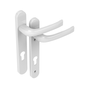 Mila Prolinea White Door Handle L/L 220mm B/Plate