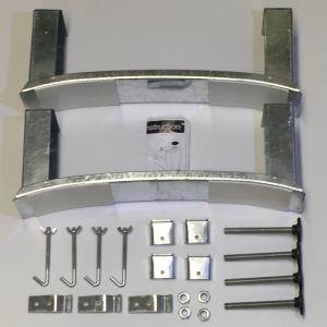 Steel Bath Legset & Wall Clips BG6041XX