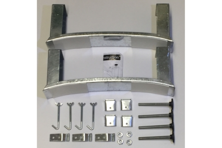 Steel Bath Legset & Wall Clips BG6041XX