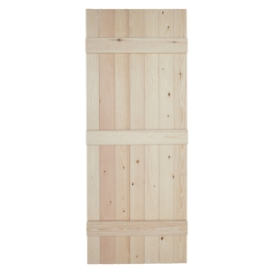 V Grooved Solid Pine Internal Ledged Door