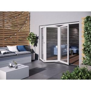 JELD-WEN Bedgebury Finished Solid Hardwood Patio Bifold Door Set White - 2094 x 2394 mm
