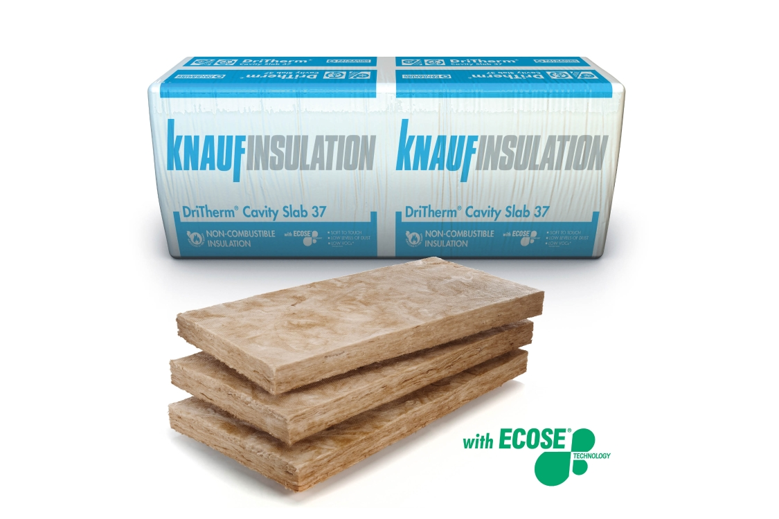 Knauf Insulation DriTherm 37 Cavity Insulation Slab 85mm 1200mm x 455mm