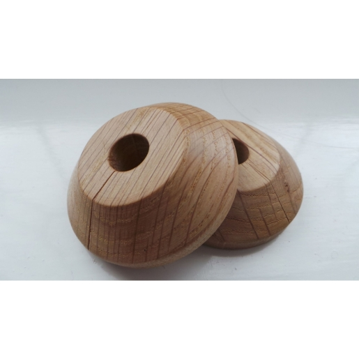Unika Solid Wood Oak Lacquered Pipe Rose Pack of 2