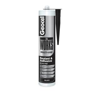 Geocel theWORKS Multi-Use Sealant and Adhesive Black 290ml