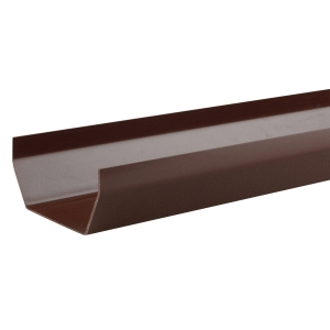 Osma SquareLine 4T872 Gutter 100mm Brown 2M