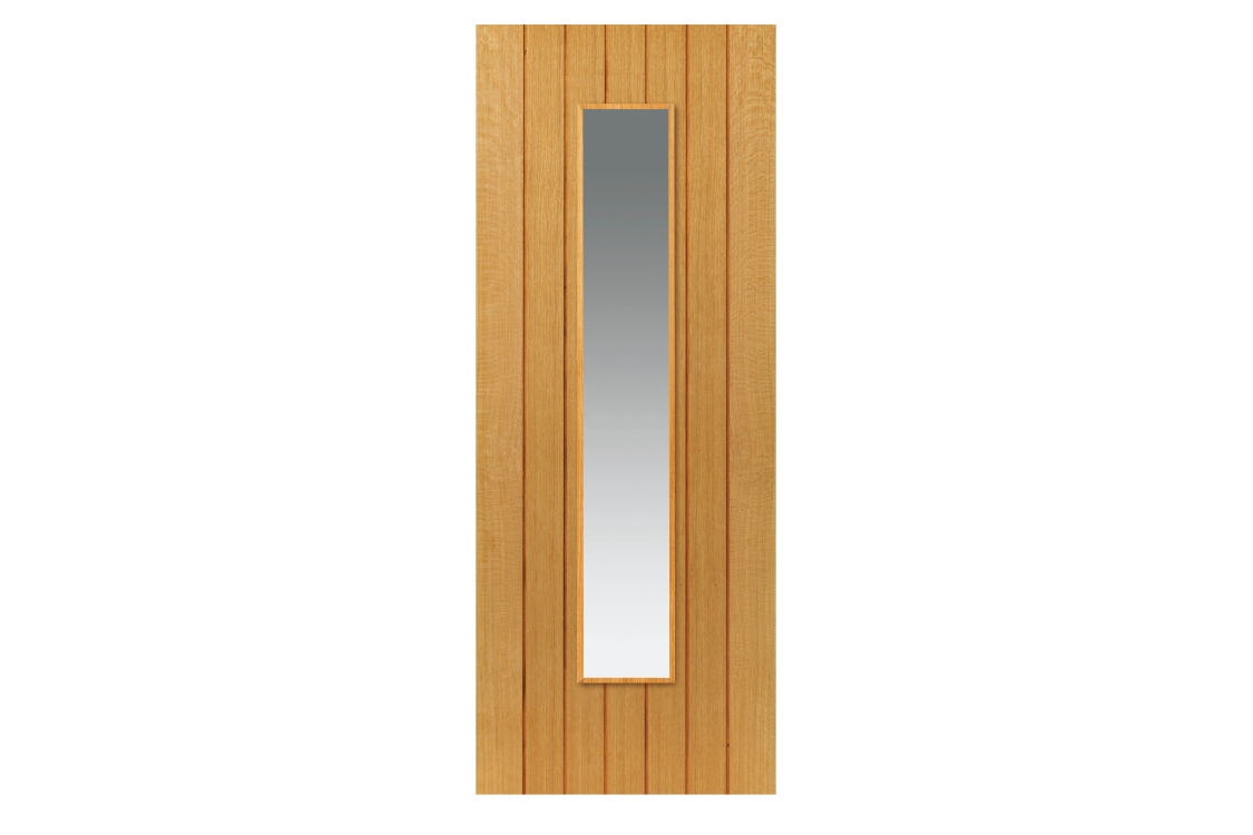Internal Oak Cherwell Internal Prefinished Glazed Door 35 x 1981 x 838mm
