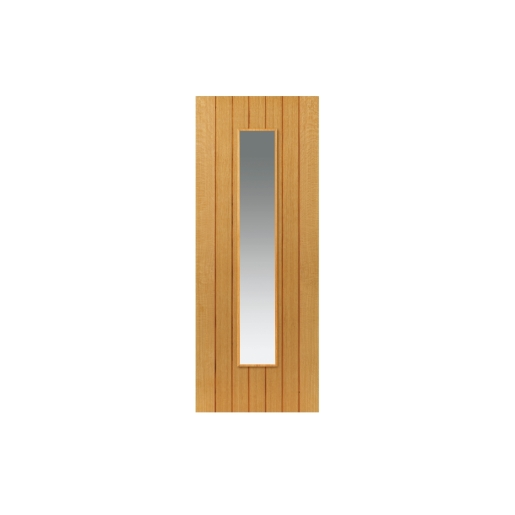 Jb Kind Oak Cherwell Internal Prefinished Glazed Door 35 x 1981 x 838mm