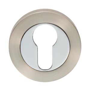 Carlisle Brass Escutcheon Euro Profile On Concealed Fix Round Rose Satin NICKEL/POLISHED Chrome