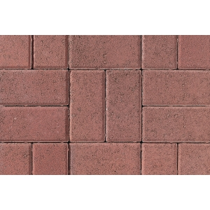 Tobermore Pedesta Decorative Block Paving in Red - 200x100x50mm