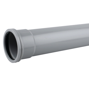 OsmaSoil 3S043G 82mm Socketed Pipe Grey 3M