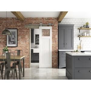 Clear Glazed Primed Cottage Elegant Sliding Door 862mm