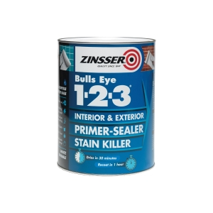 Zinsser Bullseye 1-2-3 Primer Sealer Stain Killer 2.5L