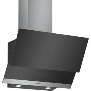 Bosch Serie 4 60cm Angled Glass Cooker Hood Black - DWK065G60B