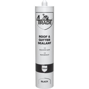 4Trade Roof & Gutter Sealant Black 310ml