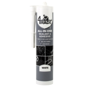 """4Trade All-in-one Sealant, Adhesive and Filler White 290ml"""""""