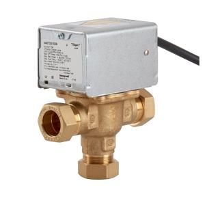 Honeywell 3 Port Motorised Mid Position Zone Plumbing Heating Valve 22mm V4073A1039/U