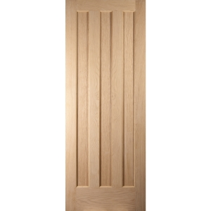 Oregon Aston 3 Panel Interior White Oak Fire Door 1981x838mm