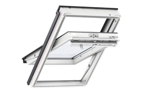 VELUX Centre Pivot Roof Window 780mm x 980mm White Polyurethane GGU MK04 0034
