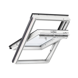 VELUX Centre Pivot Roof Window 660mm x 1180mm White Polyurethane GGU FK06 0070