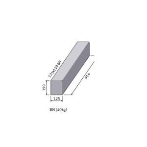 Marshalls British Standard Bull Nosed Concrete Kerb 125mm x 150mm x 915mm