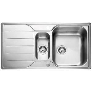 Rangemaster Leisure Albion 1.5 Bowl Inset Stainless Steel Kitchen Sink