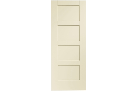 XL Joinery Internal Fully Finished Shaker 4 Panel Door 1981 x 762mm Chantilly