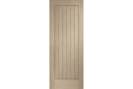 Travis Perkins Internal Fully Finished Suffolk Door Latte Stain 1981 x 686 x 35mm 27in