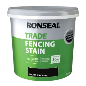 Ronseal Trade Fencing Stain Tudor BLACK5L