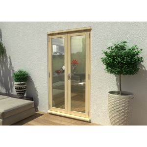 54mm Unfinished French Door Set