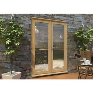 Pattern 10 Unfinished Oak French Doors