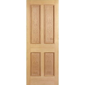 Internal 4 Panel Oak Raised Mouldings 30 Min Fire Door 1981 mm x 686 mm x 44 mm