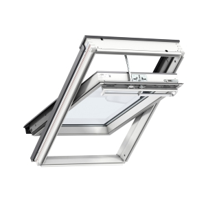 VELUX INTEGRA Electric Centre Pivot Roof Window White Painted 550mm x 1180mm
