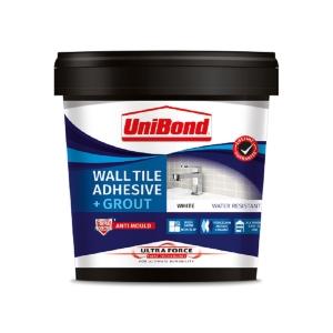 UniBond UltraForce Wall Adhesive & Grout White 1.38Kg