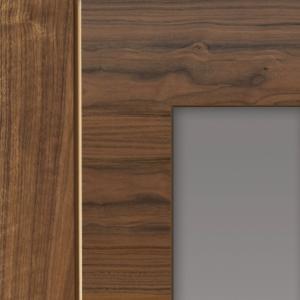 Walnut Mistral Prefinished Glazed Internal Door
