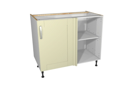 Ohio Cream Kitchen Corner Base Unit 1000mm