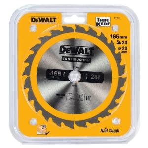Dewalt Extreme 165mm Circular Saw Blade 165 X 20 X 24t