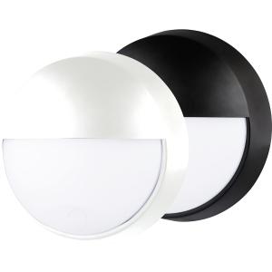 Luceco Eco Round Bulkhead Eyelid IP54 Supplied Black and White Trim 400LM 10W 4000K