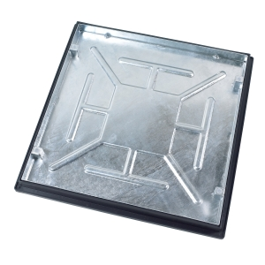 Clark-Drain Recessed Manhole Cover and Frame Galvanised Steel 600mm x 600mm 5 Tonne