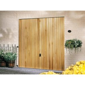 Garador Vertical Cedar Type C Timber Up & Over Garage Door 2134mm x 2134mm