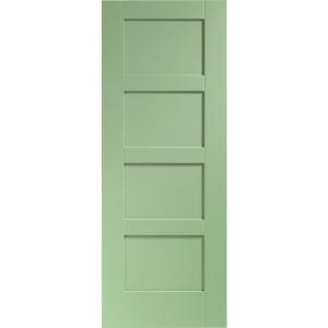 Internal Fully Finished Shaker 4 Panel Door (Fern)